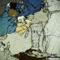 Diopsidite-thin section cross polarized light